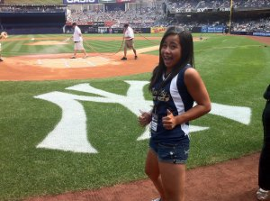 On the field @ Yankee Stadium