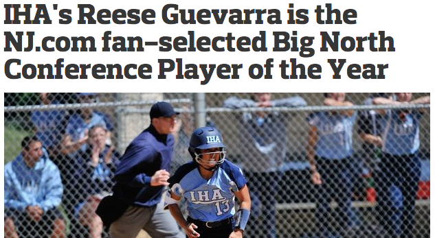 IHA's Reese Guevarra is the NJ.com fan-selected Big North Conference Player of the Year